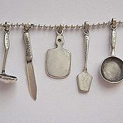 Украшения ручной работы. Ярмарка Мастеров - ручная работа Подвески в виде Кухонных принадлежностей из серебра. Handmade.