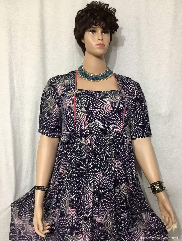 -30% Платье большого размера Аромат фиалок, Платья, Санкт-Петербург, Фото №1