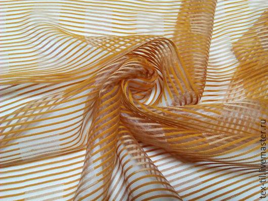 Текстиль, ковры ручной работы. Ярмарка Мастеров - ручная работа. Купить Органза квадраты для штор. Handmade. Рыжий, ткань для штор