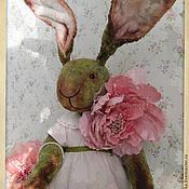 Куклы и игрушки ручной работы. Ярмарка Мастеров - ручная работа Фрау Марта - авторский плюшевый заяц. Handmade.