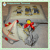 """Работы для детей, ручной работы. Ярмарка Мастеров - ручная работа СКИДКА!!!Комплект в кроватку"""" Морячок"""". Handmade."""