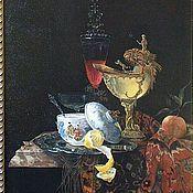 Картины и панно handmade. Livemaster - original item `Still Life with Nautilus Cup` ( manual copy) oil on canvas. Handmade.