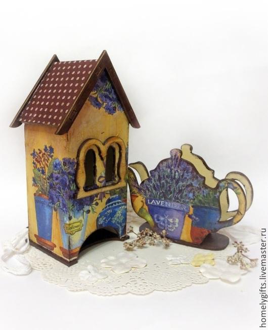 Кухня ручной работы. Ярмарка Мастеров - ручная работа. Купить Чайный набор Прованс. Handmade. Фиолетовый, для кухни, оригинальные подарки