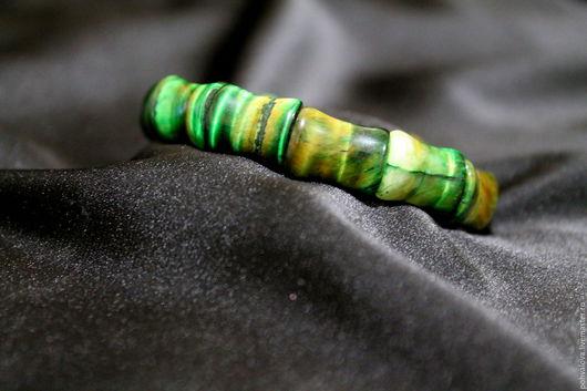Браслеты ручной работы. Ярмарка Мастеров - ручная работа. Купить Браслет из натуральных камней зеленый тигровый глаз. Handmade. Зеленый