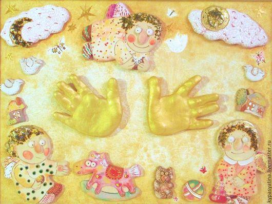 Детская ручной работы. Ярмарка Мастеров - ручная работа. Купить Ладошки. Handmade. Керамика ручной работы, живопись