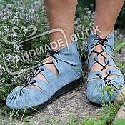 Обувь ручной работы handmade. Livemaster - original item Loafers denim suede.. Handmade.