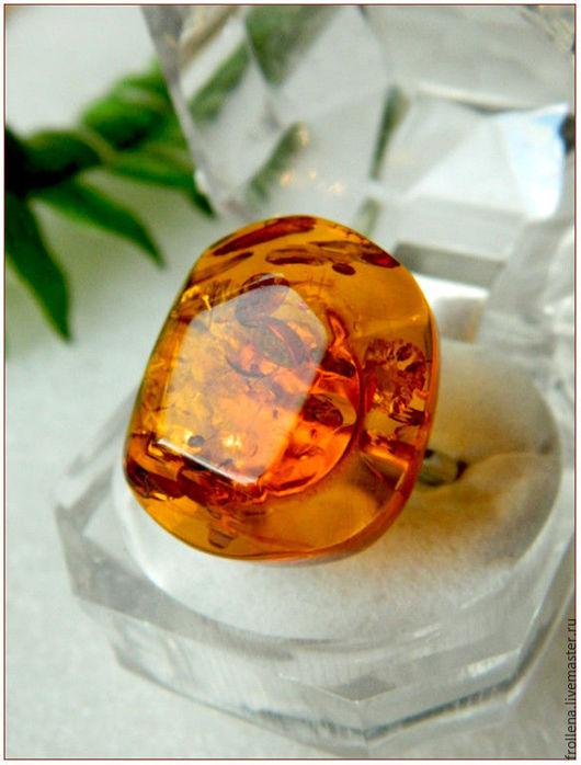 """Кольца ручной работы. Ярмарка Мастеров - ручная работа. Купить Кольцо """"Рыжая геометрия""""  янтарь посеребрение. Handmade. Янтарь, оранжевый"""
