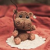 Куклы и игрушки ручной работы. Ярмарка Мастеров - ручная работа Малыш бегемотик. Handmade.