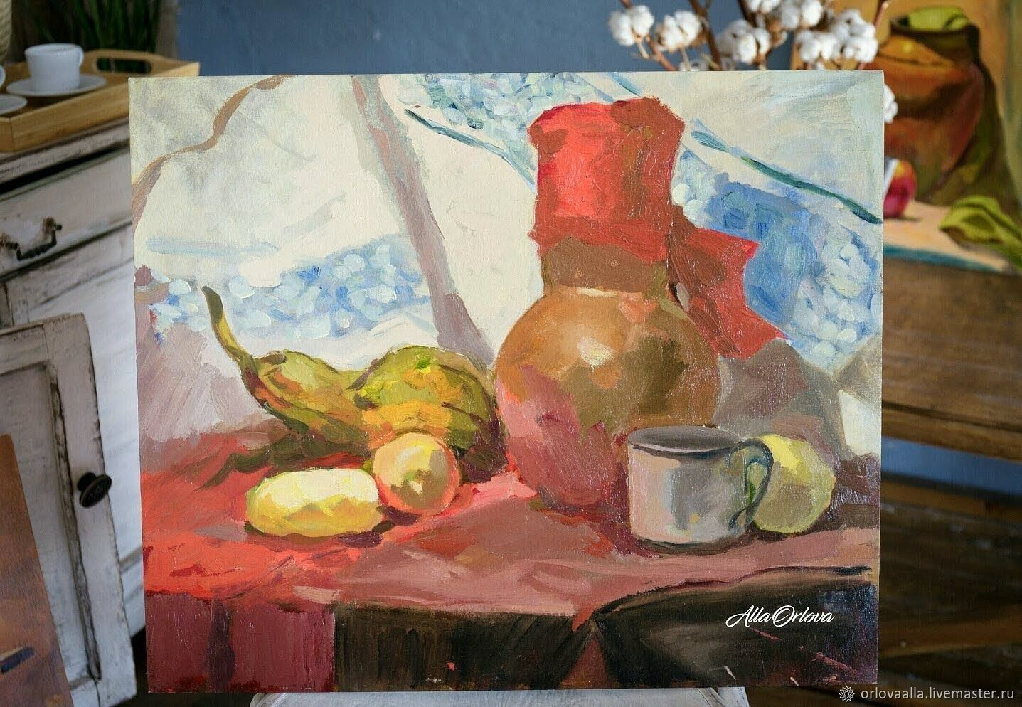 OIL PAINTING STILL LIFE JUG BUY OIL PAINTING, Pictures, Samara,  Фото №1
