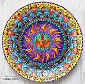 """Тарелки ручной работы. Ярмарка Мастеров - ручная работа """"Пламенный цветок"""" декоративная тарелка. Handmade."""