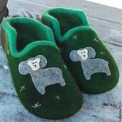 Обувь ручной работы. Ярмарка Мастеров - ручная работа Зимний Голубой Баран. Handmade.