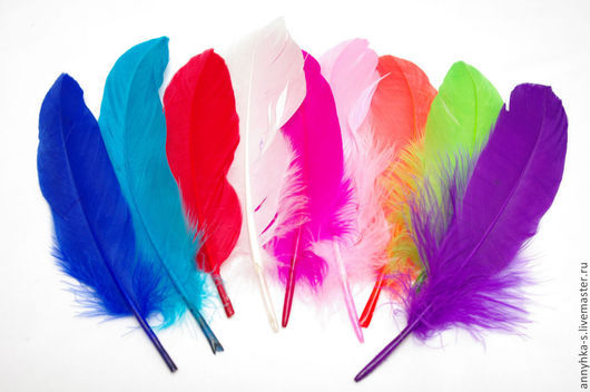 Другие виды рукоделия ручной работы. Ярмарка Мастеров - ручная работа. Купить Перья разноцветные .. Handmade. Разноцветный, материалы для творчества
