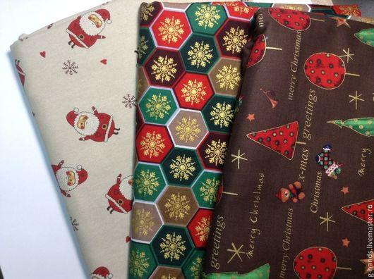 Шитье ручной работы. Ярмарка Мастеров - ручная работа. Купить Ткань новогодняя шир 140 см (Голландия). Handmade.
