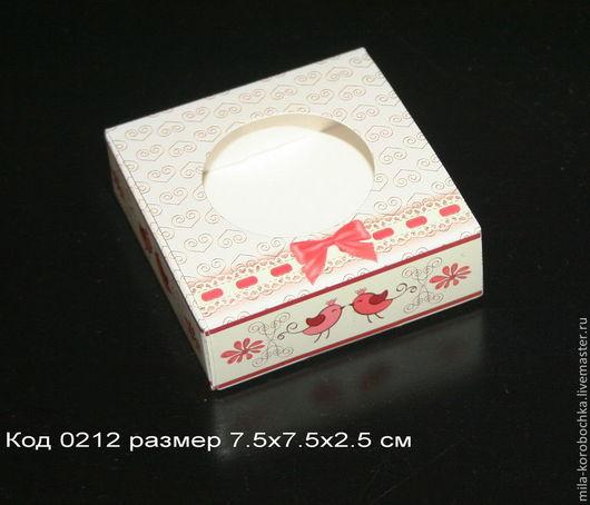 Коробочка квадратная код 0212   размер 9х6.5х2.5 см
