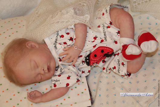 Куклы-младенцы и reborn ручной работы. Ярмарка Мастеров - ручная работа. Купить Спящая Милли. Handmade. Бежевый, кукла младенец