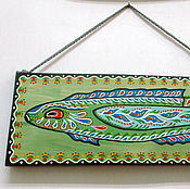 Картины и панно handmade. Livemaster - original item The picture on the Board. Chinese Fish. Handmade.