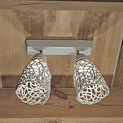 Для дома и интерьера handmade. Livemaster - original item Azhur and minimalist - wall/ceiling lamp. Handmade.