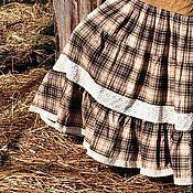 """Одежда ручной работы. Ярмарка Мастеров - ручная работа Длинная ярусная юбка """"Ракушки и песок"""". Handmade."""