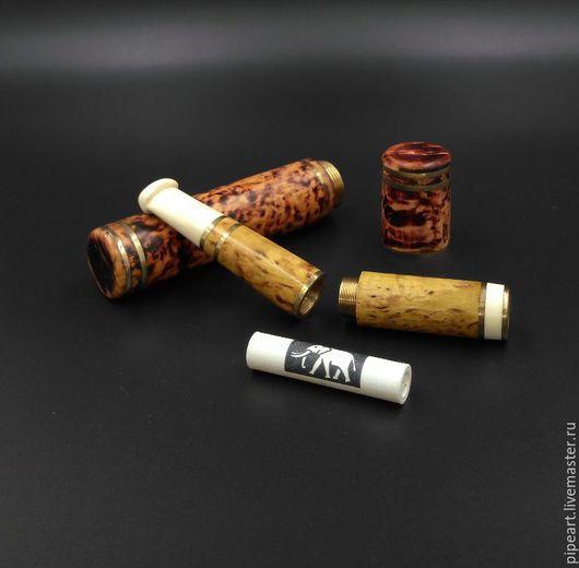 Подарки для мужчин, ручной работы. Ярмарка Мастеров - ручная работа. Купить Мундштук в пенале 4-17 Карельская береза. Handmade.