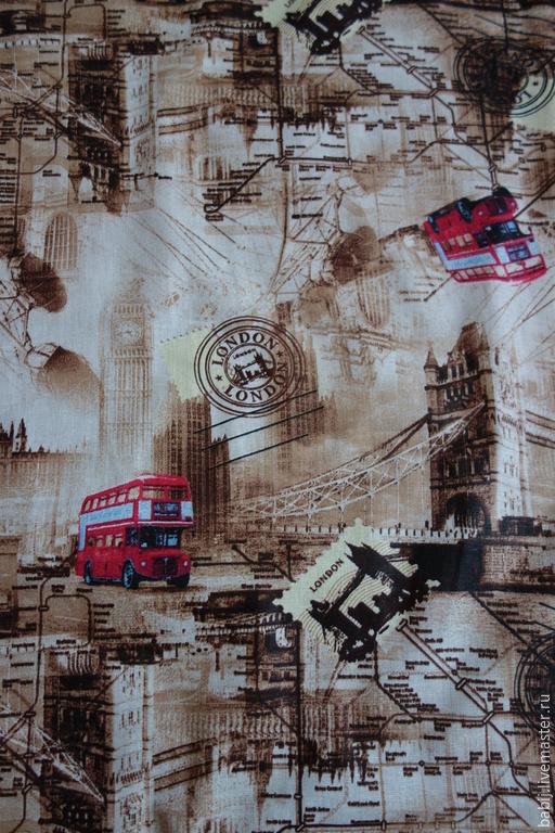 """Шитье ручной работы. Ярмарка Мастеров - ручная работа. Купить Ткань хлопок """"Лондон"""". Handmade. Ткань для рукоделия, ткань для шитья"""