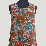 Одежда ручной работы. Ярмарка Мастеров - ручная работа Льняное платье Акварель. Handmade.