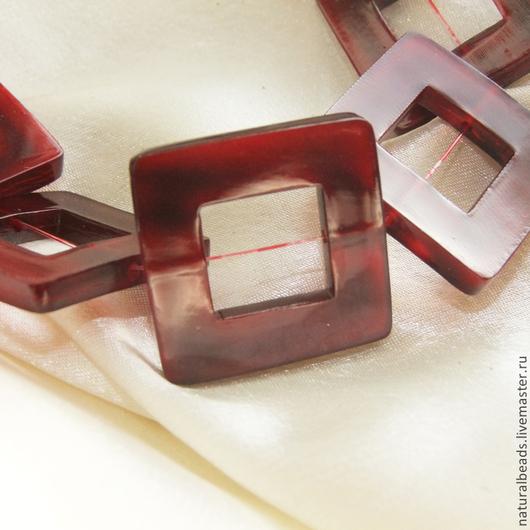Для украшений ручной работы. Ярмарка Мастеров - ручная работа. Купить РОГ РАМКА коннектор красный  / зеленый. Handmade.