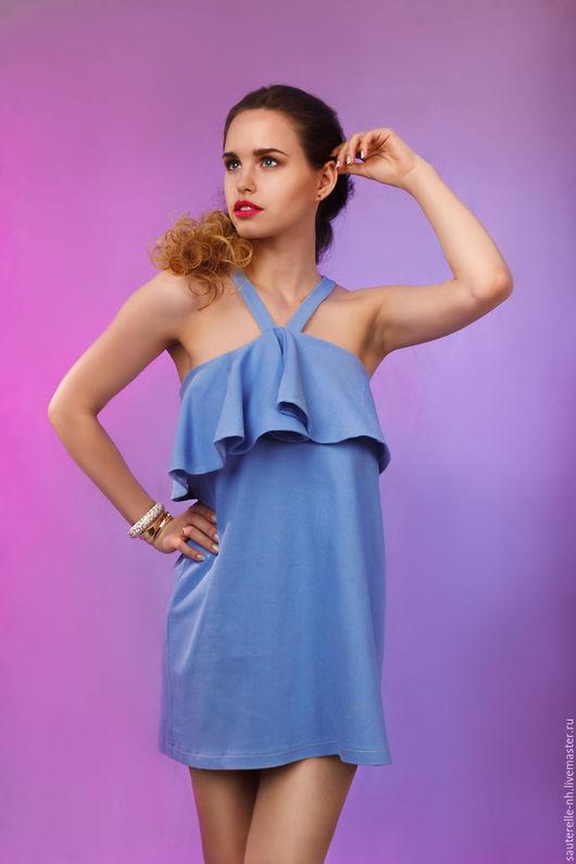 Пляжные платья ручной работы. Ярмарка Мастеров - ручная работа. Купить Платье Beach. Handmade. Голубой, пляжное платье