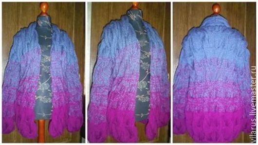 Пиджаки, жакеты ручной работы. Ярмарка Мастеров - ручная работа. Купить Кардиган Лало. Handmade. Комбинированный, полушерсть, градиент, косы