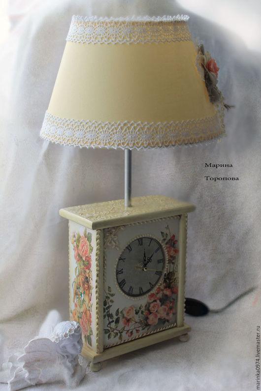 """Часы для дома ручной работы. Ярмарка Мастеров - ручная работа. Купить Часы настольные( каминные)- шкатулка """" В стиле нежного шебби"""". Handmade."""