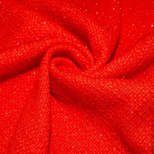 Шитье ручной работы. Ярмарка Мастеров - ручная работа. Купить Шерсть пальтово-костюмная  букле   CHANEL терракотовая. Handmade.