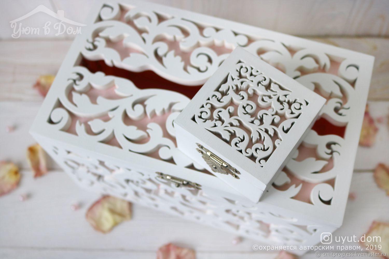 Accesorios de boda manualidades. Livemaster - hecho a mano. Comprar Caja de madera de la boda y ataúd para los anillos. Handmade