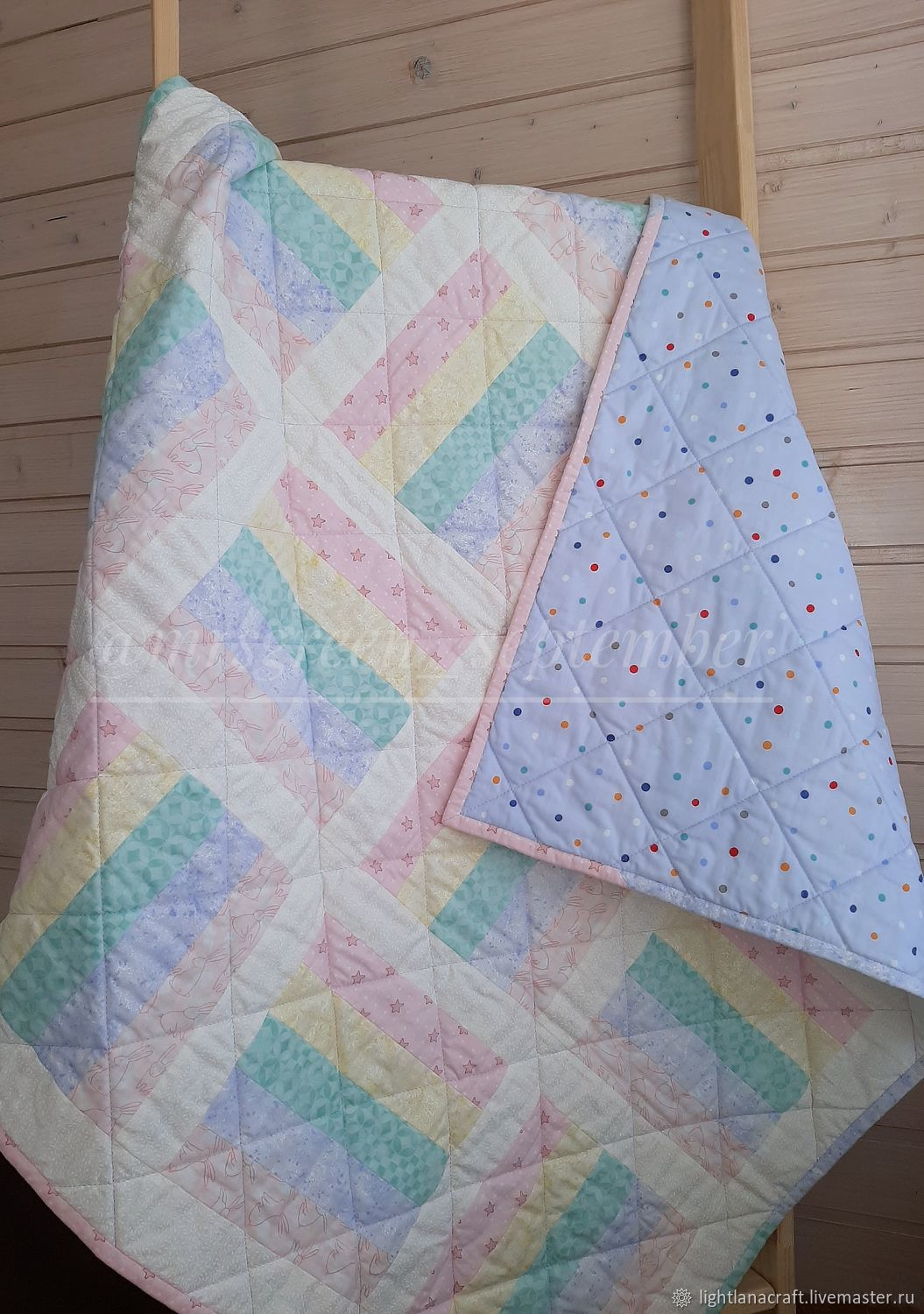 Baby quilt the Tail of a unicorn, Envelopes for discharge, Moscow,  Фото №1