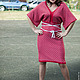 Платья ручной работы. Ярмарка Мастеров - ручная работа. Купить Вязаное авторское платье Кимоно. Handmade. Ярко-красный
