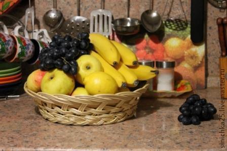 Тарелки ручной работы. Ярмарка Мастеров - ручная работа. Купить Тарелка большая для фруктов. Handmade. Желтый, плетение, ивовая лоза