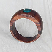 Украшения handmade. Livemaster - original item Ring made of wood with agate, size 18.. Handmade.