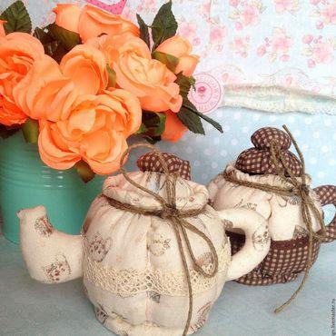 Куклы и игрушки ручной работы. Ярмарка Мастеров - ручная работа Чайнички - игольницы для рукодельниц/is sold/проданы. Handmade.