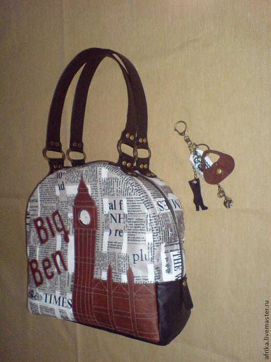 """Женские сумки ручной работы. Ярмарка Мастеров - ручная работа. Купить сумка """"London"""". Handmade. Чёрно-белый, биг бен"""