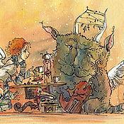 """Картины и панно ручной работы. Ярмарка Мастеров - ручная работа """"Мелодия для одинокого контрабаса"""". Handmade."""