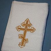 Работы для детей, handmade. Livemaster - original item Baptismal towel. Handmade.