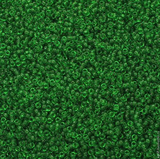Для украшений ручной работы. Ярмарка Мастеров - ручная работа. Купить Круглый 15/0 Miyuki 146 Tr Green   японский бисер Миюки. Handmade.