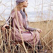 Одежда ручной работы. Ярмарка Мастеров - ручная работа Трикотажное платье цвета нюд. Handmade.