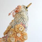 """Подарки к праздникам ручной работы. Ярмарка Мастеров - ручная работа Птичка """"Японская пыльная роза"""". Handmade."""