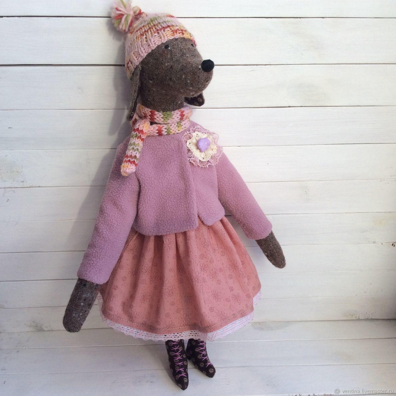 Собачка Фрося с набором одежды, Мягкие игрушки, Москва,  Фото №1