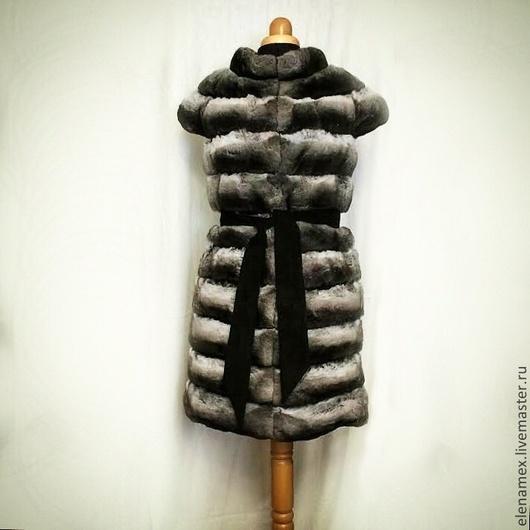 Верхняя одежда ручной работы. Ярмарка Мастеров - ручная работа. Купить Жилет из шиншиллы. Handmade. Мех, fur, меховой жилет