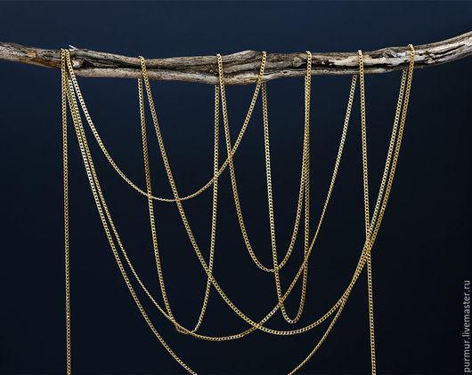 Для украшений ручной работы. Ярмарка Мастеров - ручная работа. Купить 1248_0.5_Цепочка 1.8 мм,Цепь с позолотой,Золотая цепь,Фурнитура золото. Handmade.