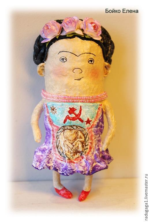 Коллекционные куклы ручной работы. Ярмарка Мастеров - ручная работа. Купить Фрида. Handmade. Разноцветный, Фрида Кало, единственный экземпляр