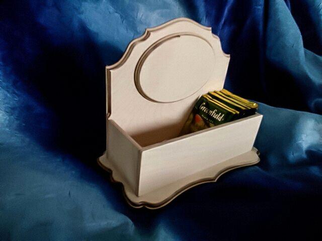 Подставка для чайных пакетов с овалом, Заготовки для декупажа и росписи, Курган,  Фото №1
