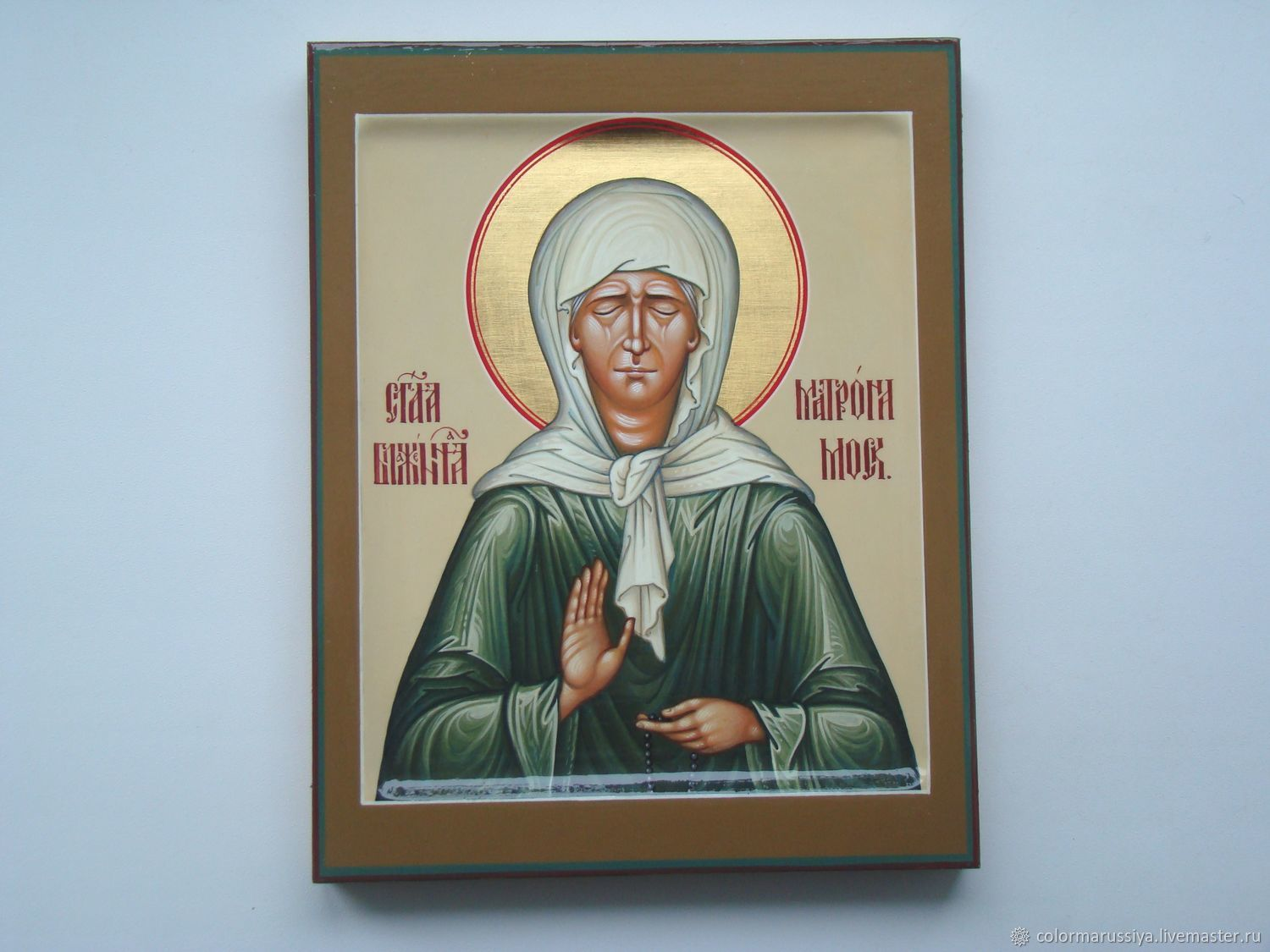 The icon of the Holy Matrona of Moscow (handwritten), Icons, Vyazniki,  Фото №1