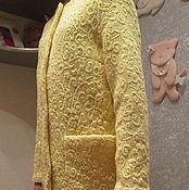 Одежда ручной работы. Ярмарка Мастеров - ручная работа Пальто демисезонное  из кружевной ткани. Handmade.