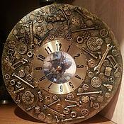 Часы классические ручной работы. Ярмарка Мастеров - ручная работа Настенные часы в стиле Steampunk. Handmade.